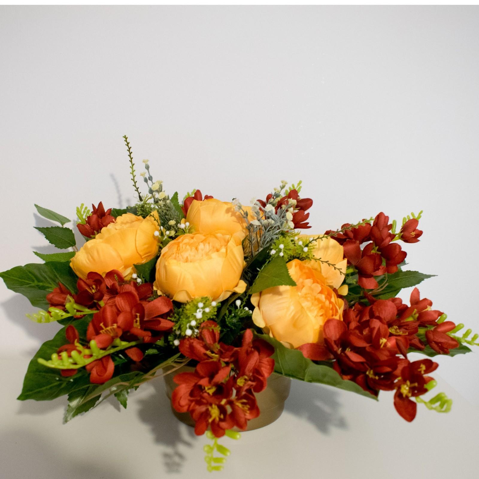 KOMPOZYCJA kwiatowa nagrobna sztuczna - STROIK na cmentarz